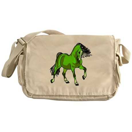 Fantasy Horse Lime Messenger Bag