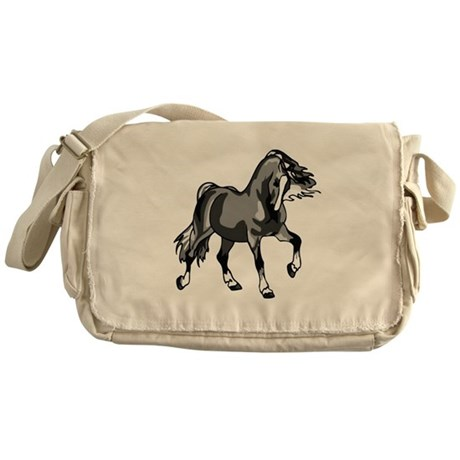 Spirited Horse Gray Messenger Bag