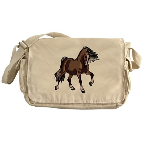 Spirited Horse Dark Brown Messenger Bag