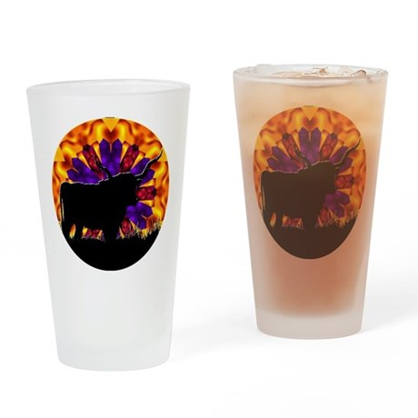 Texas Longhorn Drinking Glass