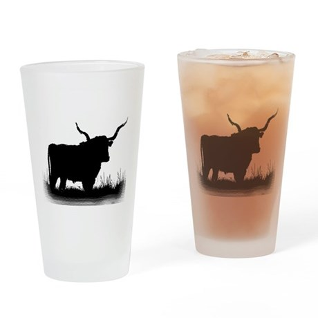 Longhorn Drinking Glass