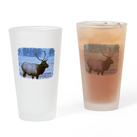 Bull Elk Drinking Glass