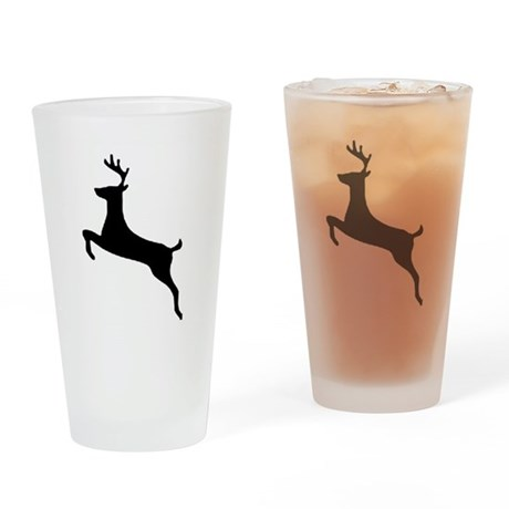 Leaping Deer Drinking Glass