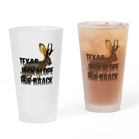 Texas Jackalope Drinking Glass