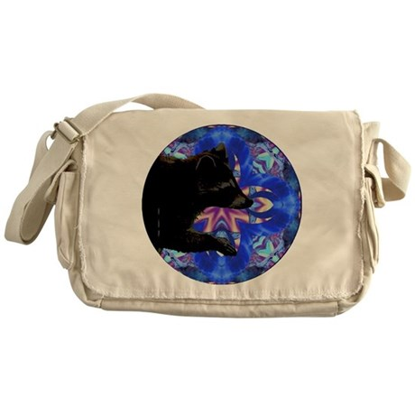 Racoon Kaleidoscope Messenger Bag