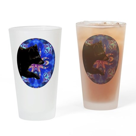 Racoon Kaleidoscope Drinking Glass