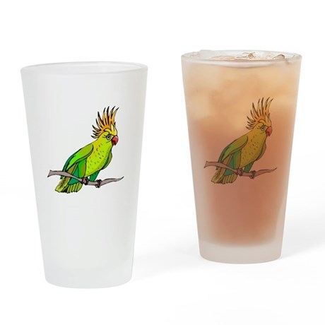 Cockatoo Drinking Glass