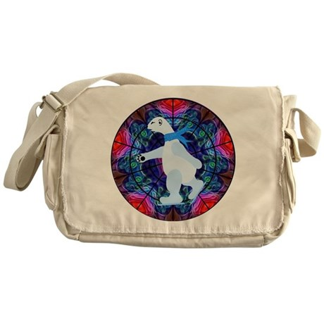 Skating Polar Bear Messenger Bag