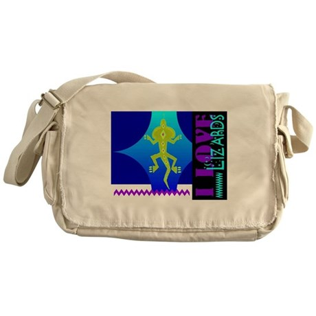 I Love Lizards Messenger Bag