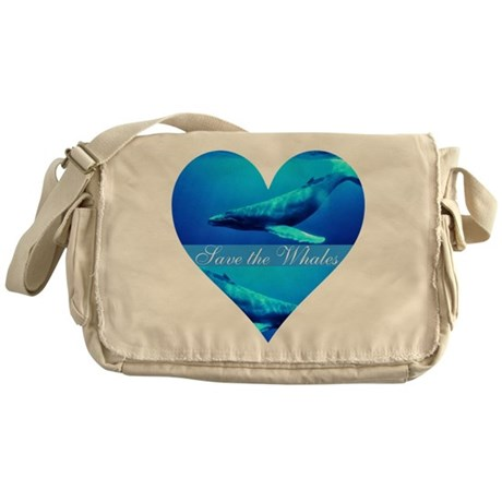 Save the Whales Messenger Bag