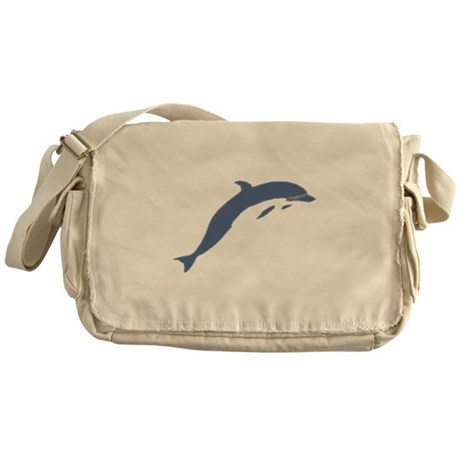 Blue Dolphin Messenger Bag