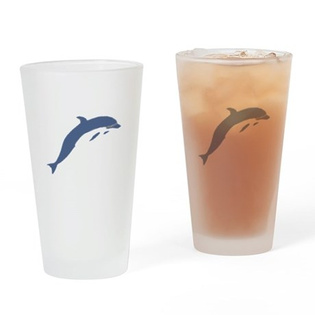 Blue Dolphin Drinking Glass