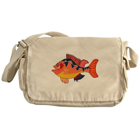 Colorful Fish Messenger Bag