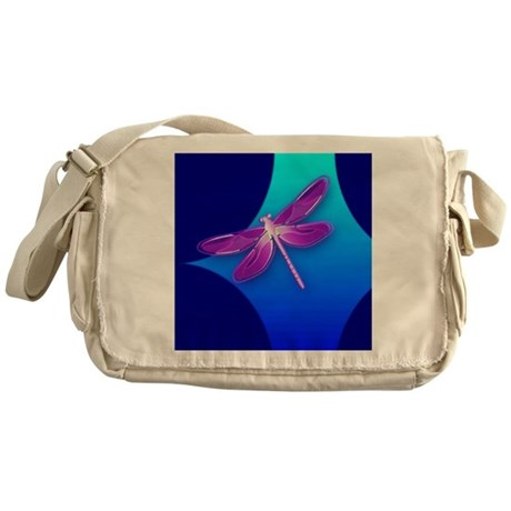 Pretty Dragonfly Messenger Bag