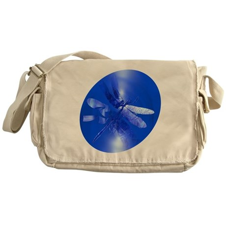 Blue Dragonfly Messenger Bag