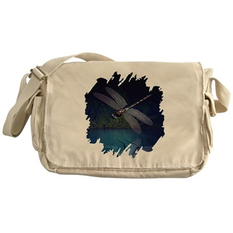 Dragonfly at Night Messenger Bag