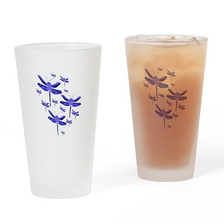 Dragonflies Drinking Glass