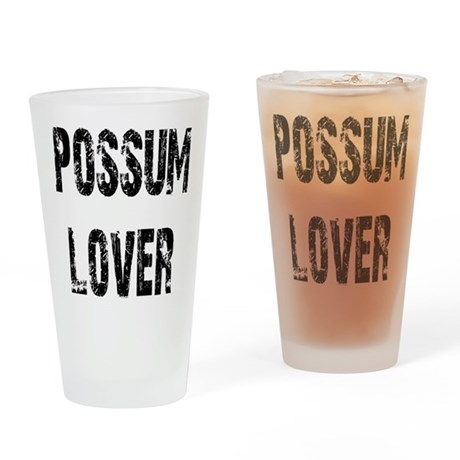Possum Lover Drinking Glass