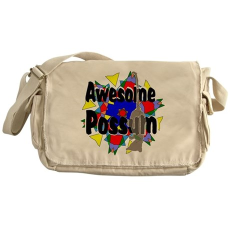 Awesome Possum Kaleidoscope Messenger Bag