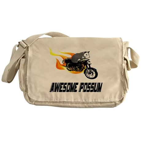 Flaming Awesome Possum Messenger Bag