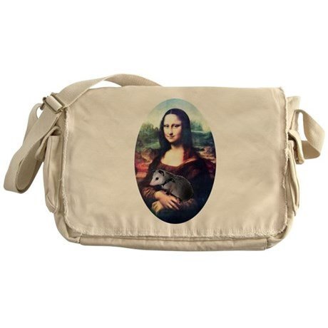 Mona Lisa Possum Messenger Bag