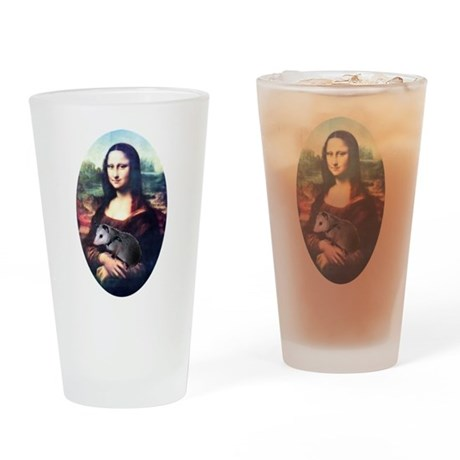 Mona Lisa Possum Drinking Glass