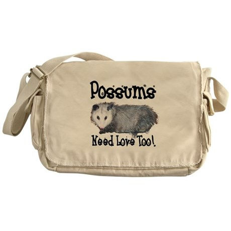 Possums Need Love Messenger Bag