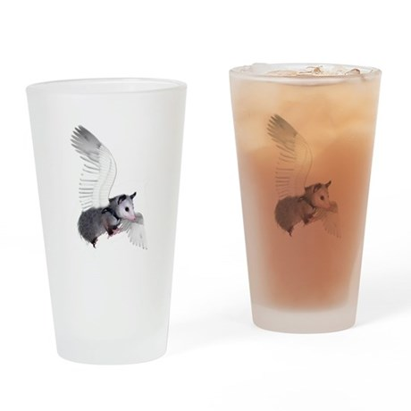 Angel Possum Drinking Glass