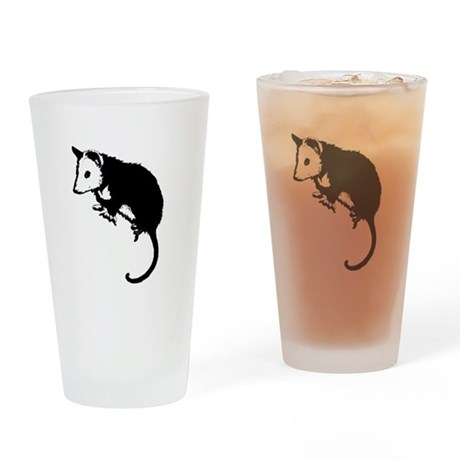 Possum Silhouette Drinking Glass