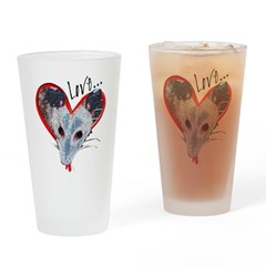 Possum Love Drinking Glass