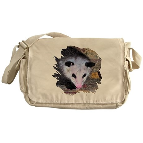 Virginia Opossum Messenger Bag