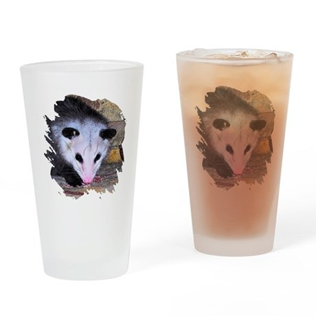 Virginia Opossum Drinking Glass