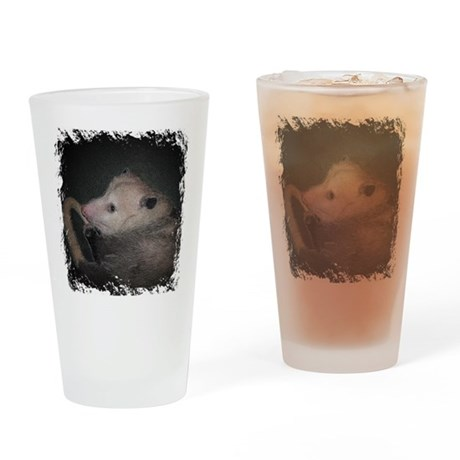 Sleepy Possum Drinking Glass
