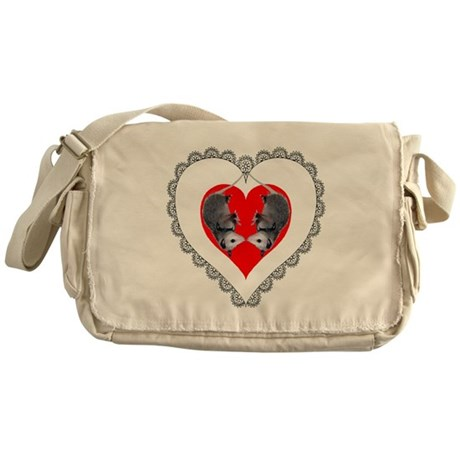Opossum Valentines Day Heart Messenger Bag