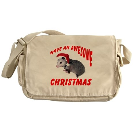 Santa Helper Possum Messenger Bag