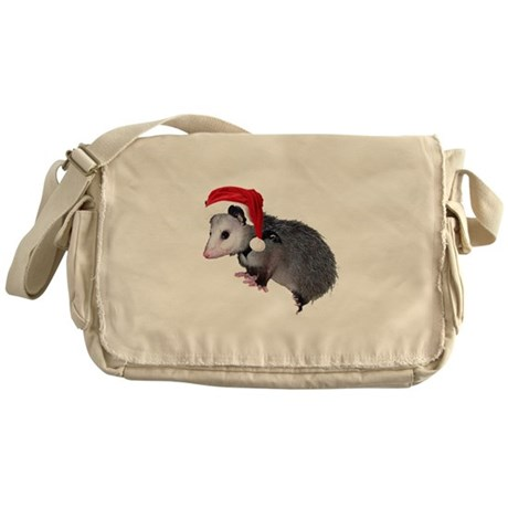 Santa Possum Messenger Bag