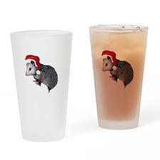 Santa Possum Drinking Glass