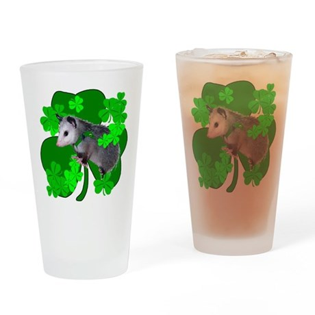 Lucky Irish Possum Drinking Glass
