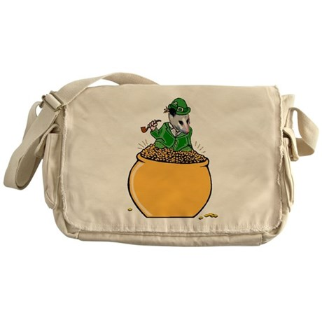 Possum Leprechaun Messenger Bag