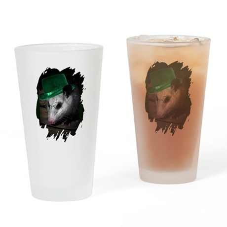 St Patrick's Day Possum Drinking Glass