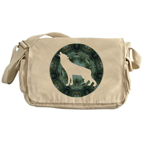 White Wolf Messenger Bag