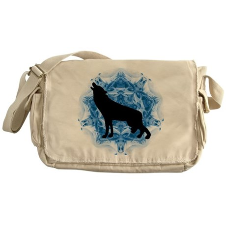 Wolf Silhouette Messenger Bag