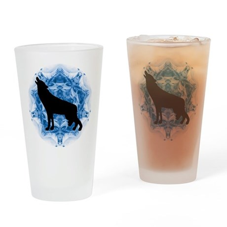 Wolf Silhouette Drinking Glass