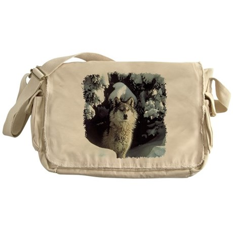 Winter Wolf Messenger Bag