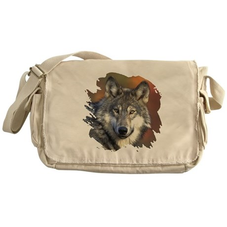 Gray Wolf Messenger Bag
