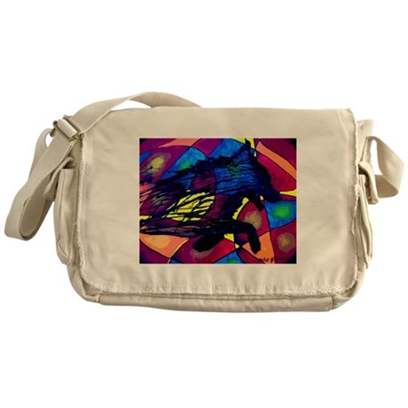 Wolf Spirit Messenger Bag