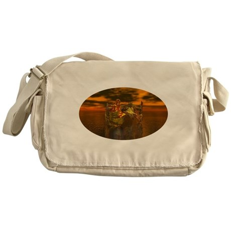 Golden Angel Messenger Bag