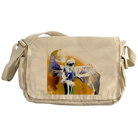 Golden Angel Art Messenger Bag