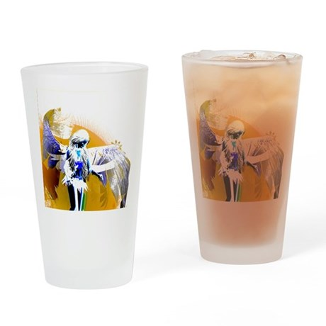 Golden Angel Art Drinking Glass