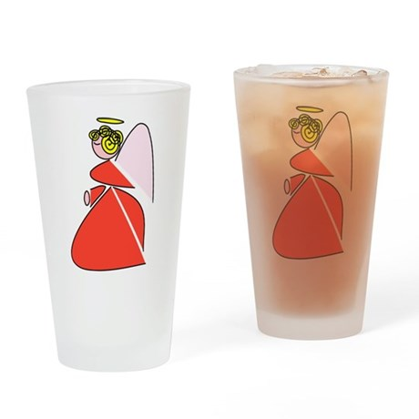 Pretty Angel Drinking Glass